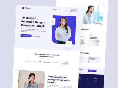 CSMu - Customer Service Landing Page 🔥 web clean blue minimal landingpage sas customerservice design ui