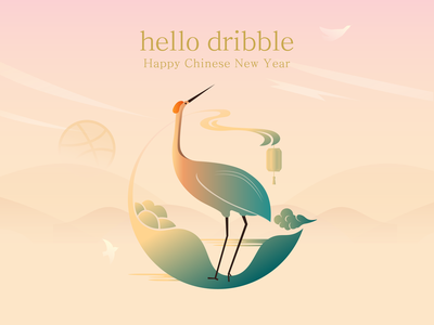 Hello Dribbble! 插图 2019 chinese new year illustration