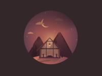 Cabin In A Desert 🏜