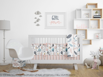 Nursery Beddings (Crib with and without Bumper) & Frames Pack