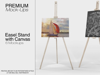 Easel Stand with Canvas Mockup Pack
