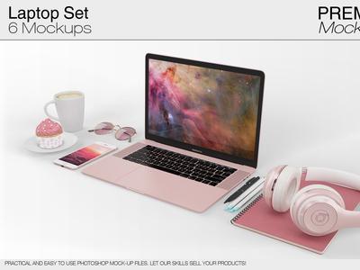 Laptop Mockup Pack - Apple MacBook Pro