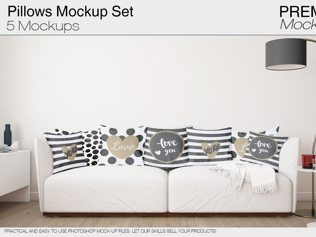 Incredible Pillows Mockup Pack By Alexander On Dribbble Andrewgaddart Wooden Chair Designs For Living Room Andrewgaddartcom