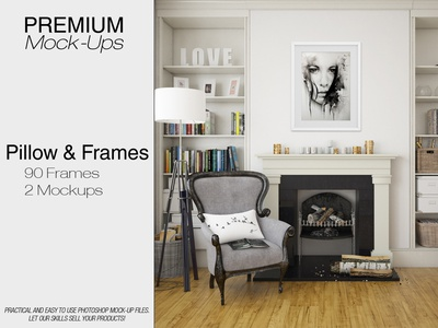 Frames & Pillow Mockup Pack