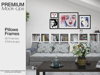Pillows & Frames Mockup Pack