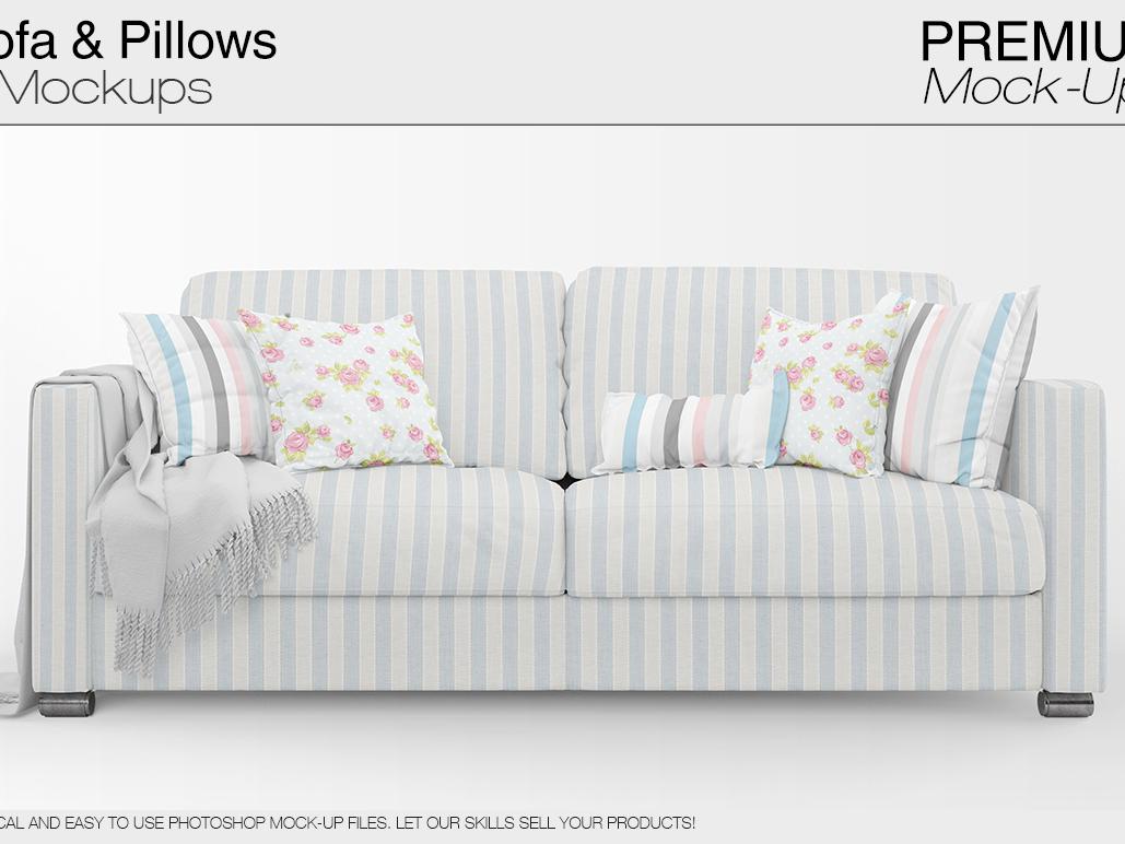 Sofa Pillows Mockup Pack By Alexander