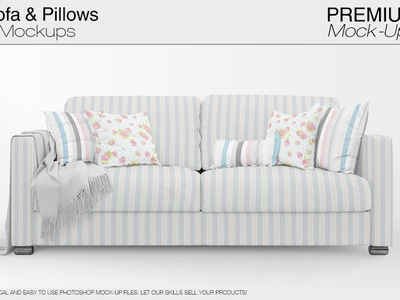 Sofa Pillows Mockup Pack By Alexander, Sofa With Pillows
