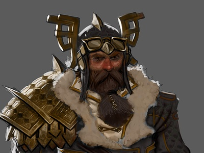 Marcel Mercado Character Concept 01 concept concept art dwarvf dwarves fantasy