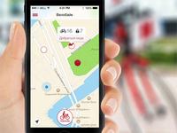 VeloBike App - rental bicycles. Main screen