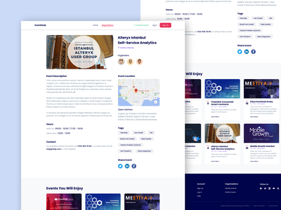 Event Website - Detail Page website concept designs website designer webdesign designer events event website event website design e-commerce flat website typography web ux ui design