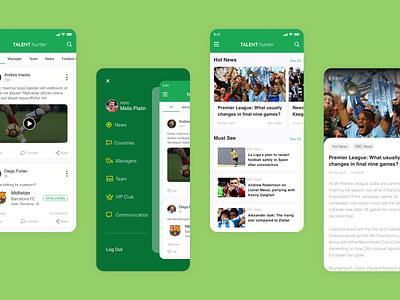Football Player mobile device mobile app design mobile app mobile design mobile ui mobile minimal designs designer flat typography ux ui design