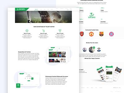 Talent Hiring Web Project football player football club football website web minimal designs designer flat typography ux ui design
