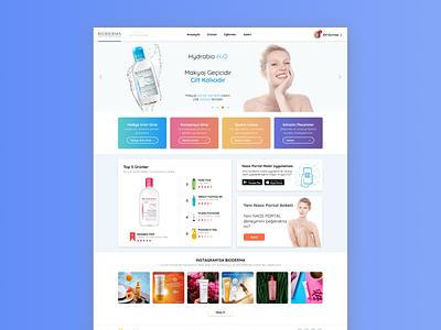 Bioderma Pharmacy uxdesign ux  ui ui design uidesign uiux design art desktop web design website design webdesign website web minimal designs designer flat typography ui ux design