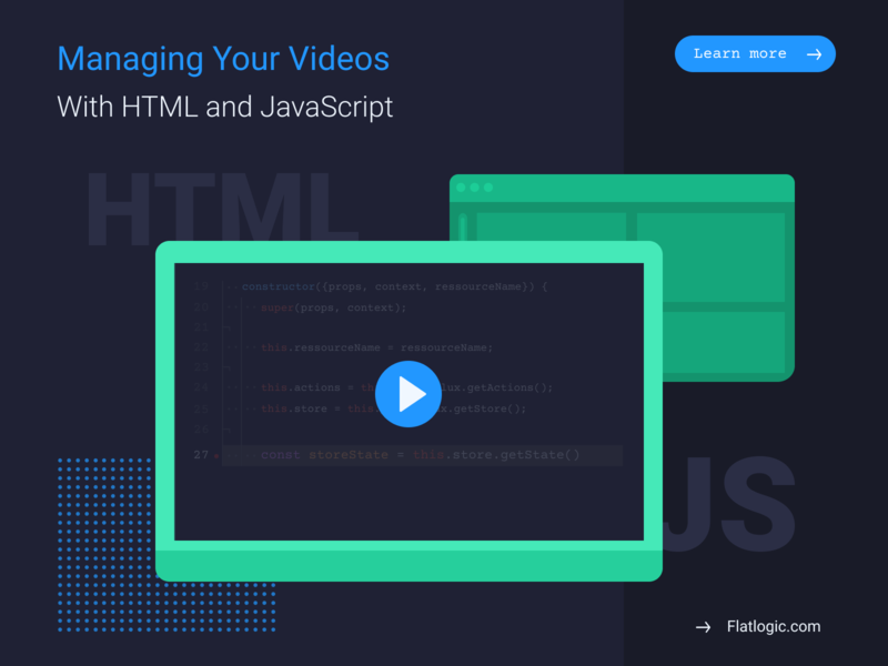 Managing Your Videos With HTML and JavaScript visual design html javascript video dashboad webdevelopment design frontend web interface illustration article ui graphic design