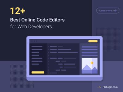 12+ Best Online Code Editors for Web Developers javascript developers code editor code illustraion interface article frontend webdevelopment web ux blog ui graphic design