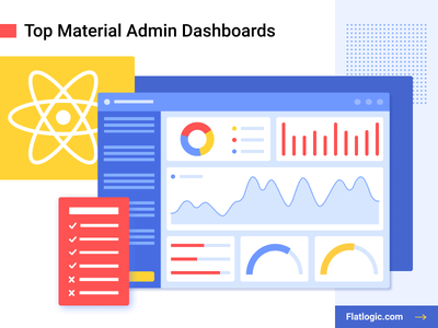 Top Material Admin Dashboards interface illustraion article graphic design blog web mobile design ui design uiux ux ui dashboad admin material