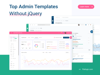 Top Admin Templates Without jQuery