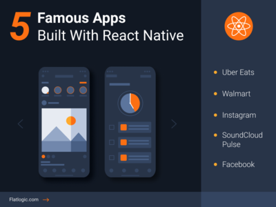 5 Famous Apps Built With React Native mobile development webdevelopment facebook instagram uber react native react mobile app mobile web ui design interface illustraion article ux ui graphic design design blog