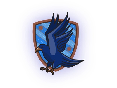 Ravenclaw Badge illustrator vector eagle raven bird blue harry potter ravenclaw badge