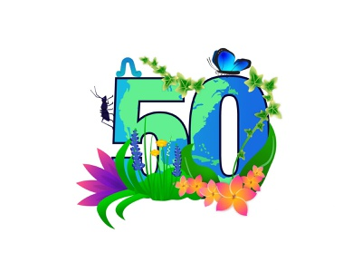 Celebrating 50 years of Earth Day! illustration adobe illustrator vector flowers plants earth day