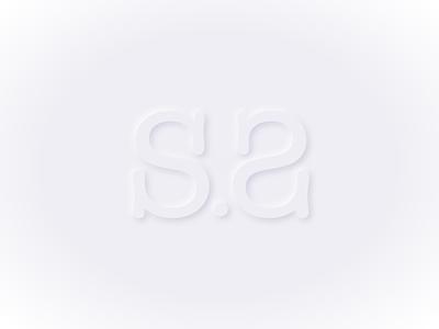 Soft Monogram monogram initials type soft design neumorphic