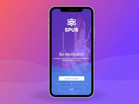 Spur Login Screen