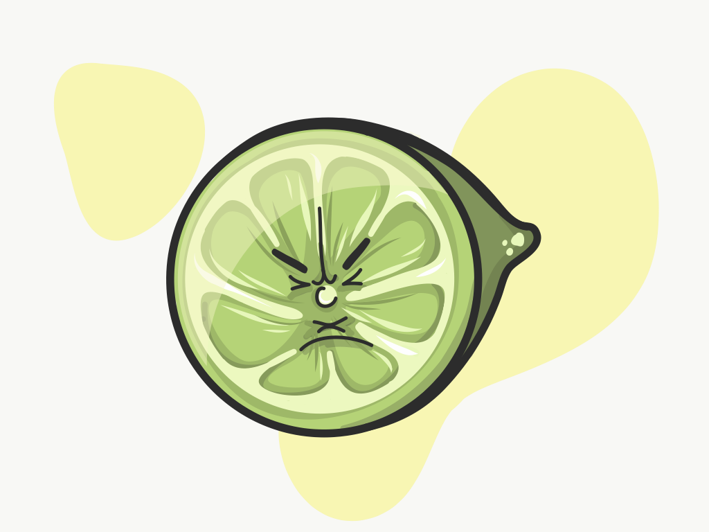 Sour character adobe draw vector ipad illustration sour fruit lime