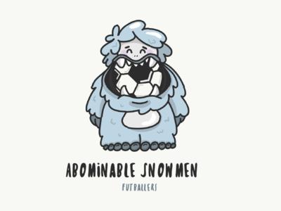 Abominable Snowmen Mascot snow adobe draw vector ipad illustration character cute grey monster yet soccer futball mascot