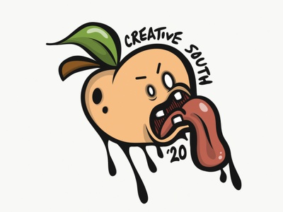 Creative South 2020 sketch monster cartoon draw adobe draw ipad vector illustration peach