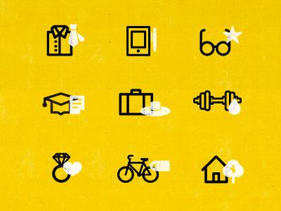 Icons outline line icon minimal illustration