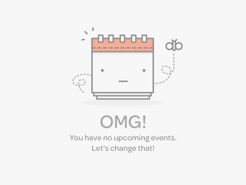 Events Empty Data Set By Lumen Bigott Dribbble