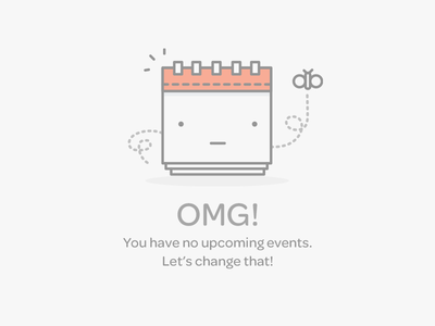 Events Empty Data Set illustration error eventbrite calendar butterfly