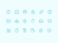 Kindy icon set