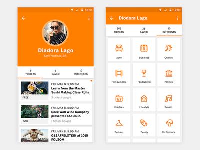 User Profile by Lumen Bigott - Dribbble