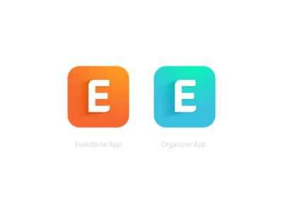 Eventbrite App Icons ios icon androi icon events organge color palette eventbrite brand gradient icon app