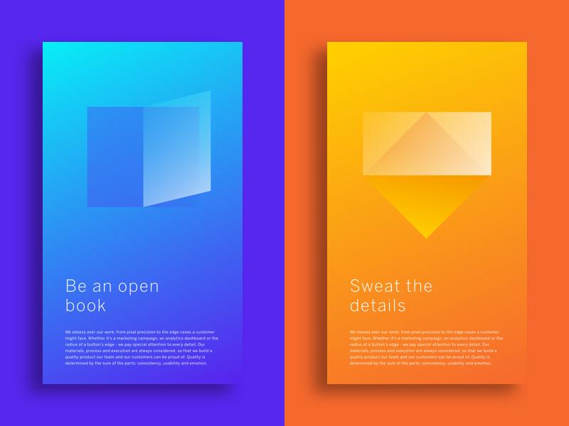 Tenets of good design ui color gradient poster design