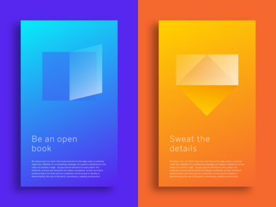 Tenets of good design ui color gradient poster design
