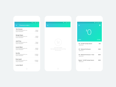Sell Organizer App sell cash card app android credit card event tickets ui material design