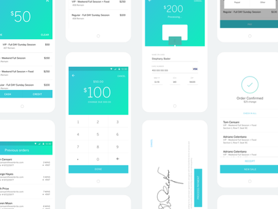 Organizer App Sell Flow  sell cash card app android credit card event tickets ui material design