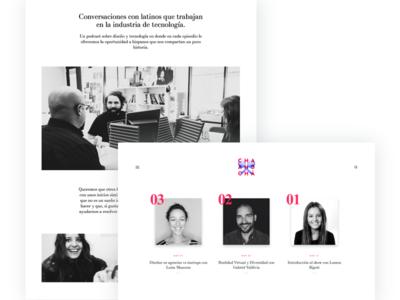 Design Podcast on Spanish podcast design spanish website product design latinos ui