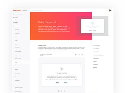 Design System Page Exploration page component system design