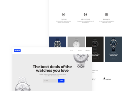 Access Watches icons clean simple minimal design website watches