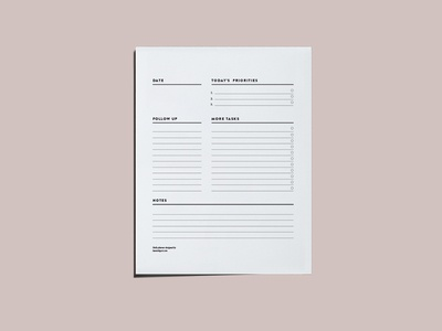Notepad productivity list desk pad notepad daily planner