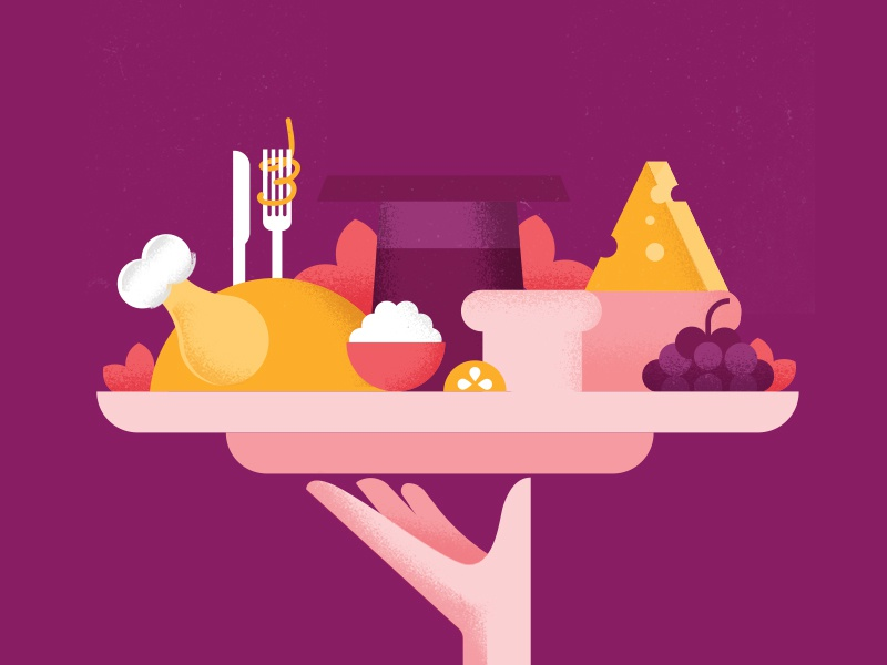 Airbnb Secret Menu Event conference magic dinner airbnb design illustration food