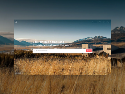 Immersive Airbnb Homepage search images hero homepage