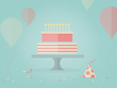 Happy Birthday Card colors texture happy birthday card party cake balloons