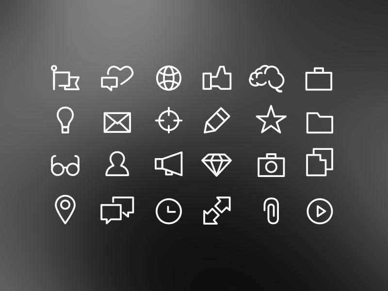Outline icons outline icons minima simple line black white diamond glasses icon iconography
