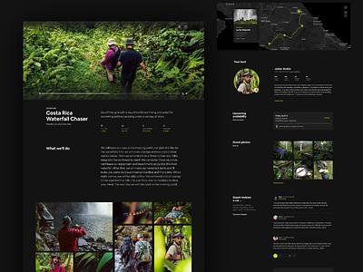 Adventures Dark Mode product page video darkmode dark map ui adventures design