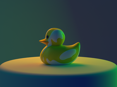 Rubber Ducky redshift c4d rubber ducky 3d