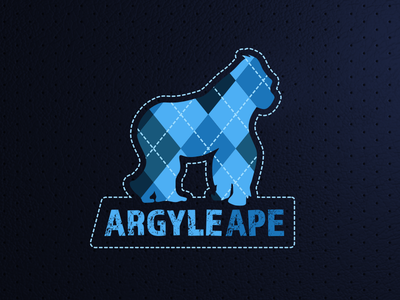 Argyle Ape ios lettering flat type branding typography design vector illustration argyle logo ape